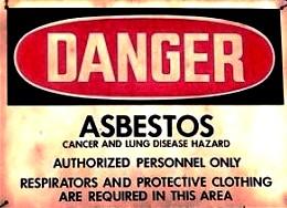 Asbestos-sign